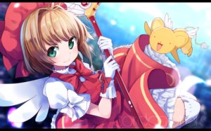 Rating: Safe Score: 26 Tags: card_captor_sakura dress kerberos kinomoto_sakura okota_mikan thighhighs weapon wings User: Mr_GT