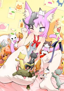 Rating: Questionable Score: 23 Tags: animal_ears gibuchoko naked nekomimi tail thighhighs User: Brufh