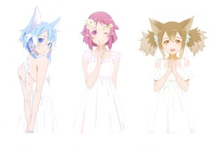 Rating: Safe Score: 61 Tags: alfheim_online animal_ears dress lisbeth silica sinon summer_dress sword_art_online User: drop