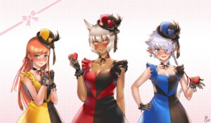 Rating: Safe Score: 10 Tags: animal_ears cleavage dress final_fantasy final_fantasy_xiv haimerejzero miqo'te pointy_ears valentine User: Mr_GT