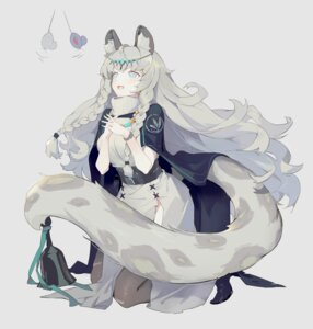 Rating: Questionable Score: 20 Tags: animal_ears arknights dress heels helic_(7317helic) pramanix_(arknights) tail thighhighs User: Dreista