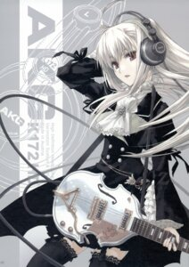 Rating: Safe Score: 111 Tags: closet_child gothic_lolita guitar headphones konoe_ototsugu lolita_fashion thighhighs User: Aurelia