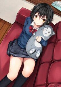 Rating: Safe Score: 20 Tags: kurokami_(kurokaminohito) seifuku sweater User: Masutaniyan