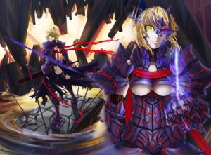 Rating: Questionable Score: 11 Tags: fate/stay_night saber saber_alter todee underboob User: Tensa