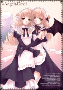 Rating: Safe Score: 13 Tags: hime_ichigo maid noda_mirei wings User: petopeto