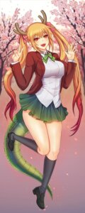 Rating: Safe Score: 9 Tags: hams horns kobayashi-san_chi_no_maid_dragon seifuku skirt_lift tail tooru_(kobayashi-san_chi_no_maid_dragon) User: dick_dickinson