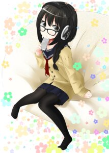 Rating: Safe Score: 27 Tags: headphones megane nekobaka pantyhose seifuku sweater User: hamasen205