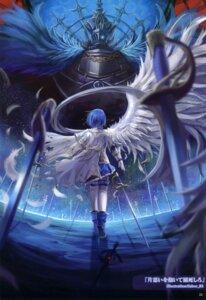 Rating: Safe Score: 33 Tags: miki_sayaka moe_shoujo_ryouiki puella_magi_madoka_magica saber_01 sword wings User: fireattack