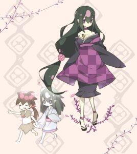Rating: Safe Score: 16 Tags: cleavage dokumi katanagatari kimono yasuri_nanami yasuri_shichika User: tbchyu001