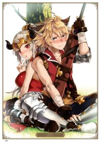 Rating: Safe Score: 5 Tags: aliza_(granblue_fantasy) animal_ears armor granblue_fantasy horns otabe_sakura stan_(granblue_fantasy) sword User: Twinsenzw