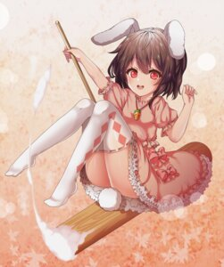 Rating: Questionable Score: 17 Tags: animal_ears bunny_ears dress feet inaba_tewi kinos_(kw00789) skirt_lift tail thighhighs touhou User: Mr_GT