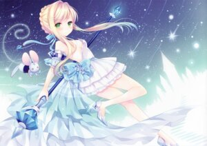 Rating: Safe Score: 94 Tags: cinderella dress heels no_bra see_through w.label wasabi_(artist) weapon User: yong