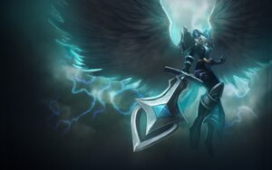 Rating: Questionable Score: 4 Tags: armor league_of_legends sword tagme wings User: Radioactive