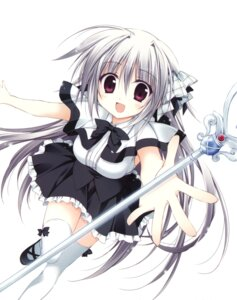 Rating: Safe Score: 47 Tags: iris_freyja juuoumujin_no_fafnir korie_riko seifuku thighhighs weapon User: Twinsenzw
