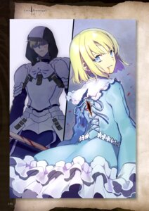 Rating: Safe Score: 14 Tags: armor blood dress fate/prototype fate/stay_night nakahara sword torn_clothes User: drop
