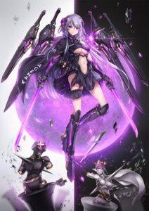 Rating: Questionable Score: 31 Tags: armor heels mecha_musume no_bra sword t-track underboob User: Dreista