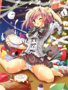 Rating: Questionable Score: 61 Tags: cameltoe christmas cream hisuitei izumi_tsubasu neko pantsu shimapan User: crim