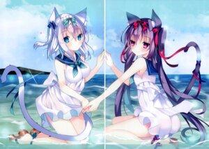 Rating: Questionable Score: 13 Tags: animal_ears dress gap nekomimi satsuki_mayuri skirt_lift tagme tail wet User: Radioactive