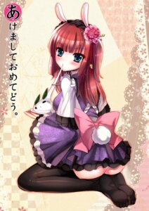 Rating: Questionable Score: 50 Tags: animal_ears ass bunny_ears lolita_fashion mafuyu nopan thighhighs umineko_no_naku_koro_ni ushiromiya_ange wa_lolita User: blooregardo