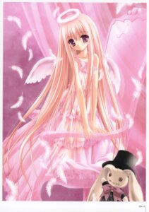 Rating: Safe Score: 18 Tags: angel dress lingerie lolita_fashion nipples pantsu see_through tinkle wings User: fireattack