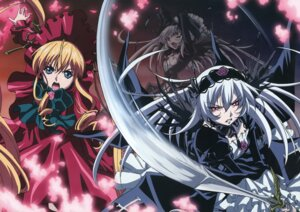 Rating: Safe Score: 15 Tags: lolita_fashion rozen_maiden shinku suigintou User: Anonymous