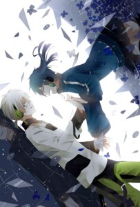 Rating: Safe Score: 12 Tags: enomoto_takane headphones kagerou_project konoha_(kagerou_project) stairway User: Zenex