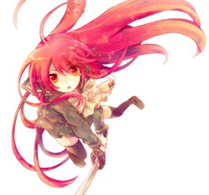 Rating: Safe Score: 35 Tags: seifuku shakugan_no_shana shana sword tachitsu_teto thighhighs User: fireattack