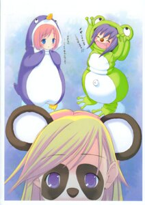 Rating: Safe Score: 5 Tags: animal_ears kuroi_sumi moetan nijihara_ink penguin pop shiratori_alice User: MugiMugi