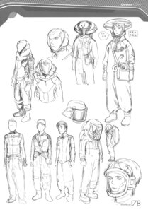 Rating: Safe Score: 9 Tags: character_design monochrome range_murata shangri-la sketch User: Share