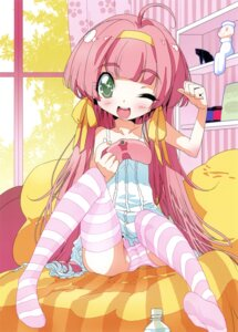 Rating: Questionable Score: 35 Tags: nanasube_juuji pantsu shimapan thighhighs User: petopeto