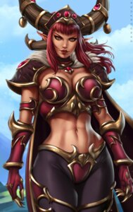 Rating: Safe Score: 12 Tags: alexstrasza_the_life_binder armor cleavage dandon_fuga horns pointy_ears world_of_warcraft User: NotRadioactiveHonest