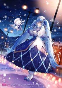 Rating: Safe Score: 28 Tags: dress hatsune_miku heels necomi vocaloid yuki_miku User: zyll