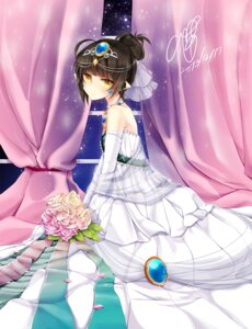 Rating: Safe Score: 34 Tags: autographed dress elsword eve_(elsword) oao wedding_dress User: fairyren