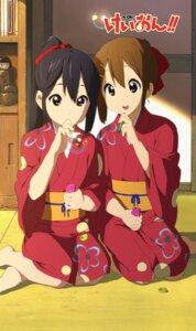 Rating: Safe Score: 21 Tags: hirasawa_yui horiguchi_yukiko k-on! nakano_azusa yukata User: saemonnokami