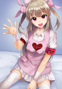 Rating: Questionable Score: 16 Tags: bandages konkito natori_sana nurse sana_channel thighhighs User: sym455