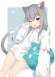 Rating: Safe Score: 48 Tags: amashiro_natsuki animal_ears dress_shirt nacho_(amashiro_natsuki) nekomimi tail User: Mr_GT