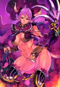 Rating: Questionable Score: 39 Tags: bikini_armor cleavage f.s horns pointy_ears tail thighhighs weapon wings User: YamatoBomber