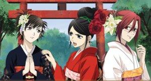Rating: Safe Score: 11 Tags: aozaki_touko kara_no_kyoukai kimono kokutou_azaka ryougi_shiki User: demonbane1349