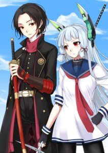 Rating: Safe Score: 17 Tags: crossover kantai_collection kashuu_kiyomitsu murakumo_(kancolle) pantyhose ryou@ryou seifuku sword touken_ranbu User: Mr_GT