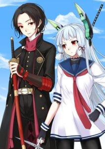 Rating: Safe Score: 17 Tags: crossover kantai_collection kashuu_kiyomitsu murakumo_(kancolle) pantyhose ryou@ryou seifuku sword touken_ranbu User: Mr_GT