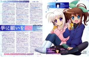 Rating: Safe Score: 24 Tags: fuuka_reventon itou_mariko mahou_shoujo_lyrical_nanoha pantyhose photo rinne_berlinetta vivid_strike! User: drop