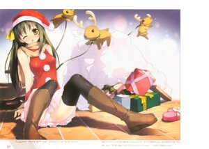 Rating: Questionable Score: 54 Tags: 5_nenme_no_houkago christmas kantoku pantsu thighhighs User: Kalafina