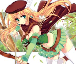 Rating: Safe Score: 32 Tags: cleavage elf pointy_ears thighhighs wallpaper yukiwo User: blooregardo