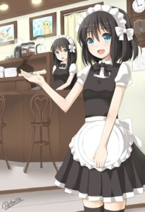 Rating: Safe Score: 25 Tags: maid retoriro saine_(retoriro) signa thighhighs User: fireattack