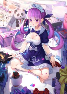 Rating: Safe Score: 1 Tags: artist_revision cleavage cqingwei hololive maid minato_aqua User: BattlequeenYume