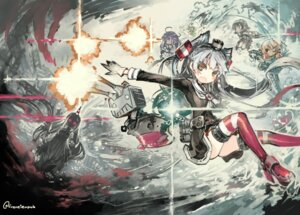Rating: Questionable Score: 29 Tags: amatsukaze_(kancolle) kantai_collection konno_takashi rensouhou-kun seaport_hime taigei_(kancolle) thighhighs User: Anonymous