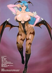 Rating: Questionable Score: 23 Tags: breasts cameltoe dark_stalkers midoh_tsukasa morrigan_aensland nipples no_bra pantyhose wings User: ferkunxd