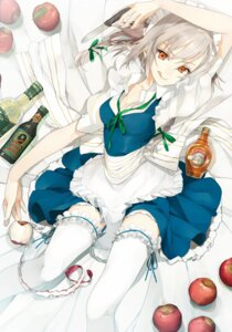 Rating: Safe Score: 33 Tags: cleavage izayoi_sakuya maid takemi thighhighs touhou User: Nekotsúh
