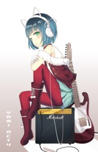 Rating: Safe Score: 36 Tags: guitar headphones pantyhose tagme trap utau User: KazukiNanako