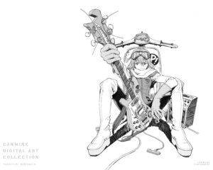 Rating: Safe Score: 9 Tags: flcl guitar haruhara_haruko monochrome sadamoto_yoshiyuki wallpaper User: Radioactive